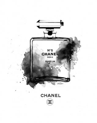 Chanel Bottle B & W