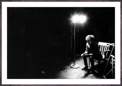 Bob Dylan in the dark, The Factory NYC, 1965