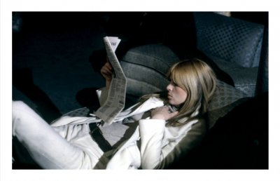 Nico reclines, The Factory NYC, 1966