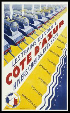 Trains to the Cote d'Azur